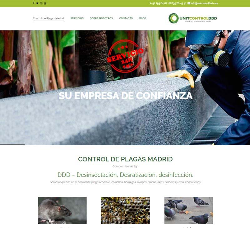 Diseño web control de plagas