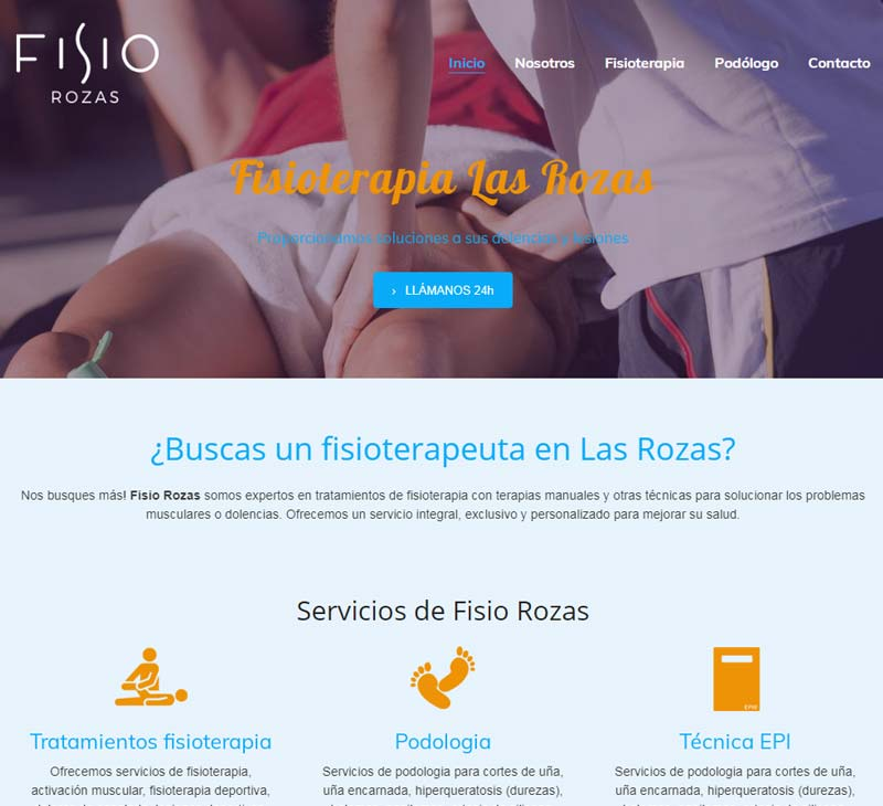 Diseño web fisioterapia