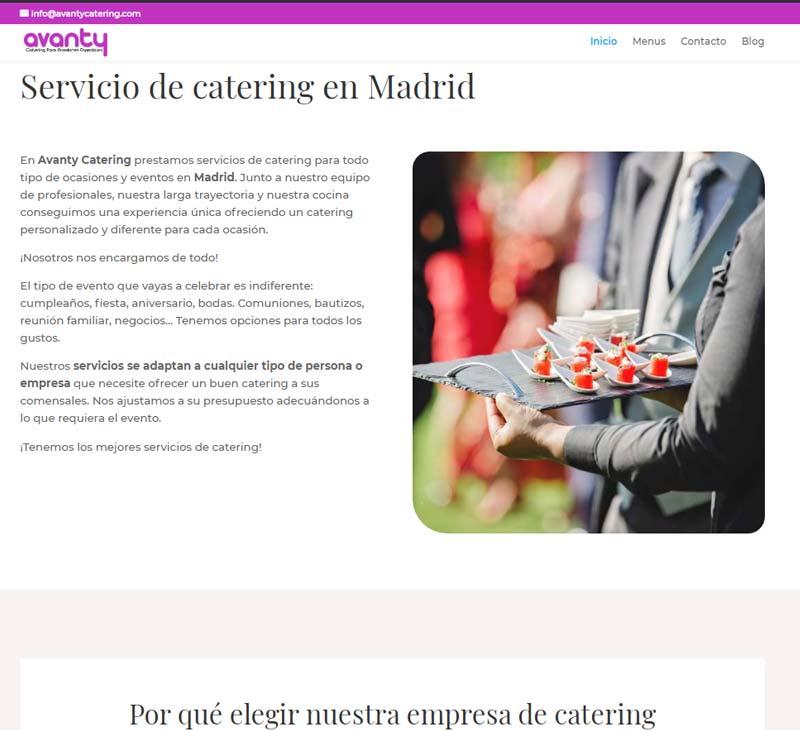 diseño web catering