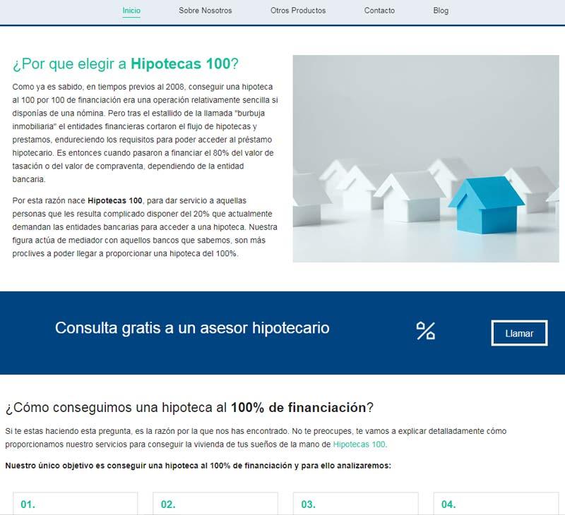 diseño web financiero