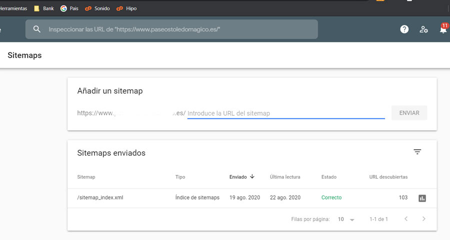 Sitemap Search Console
